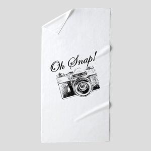 OH SNAP CAMERA Beach Towel