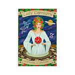 Lady Capricorn Rectangle Magnet