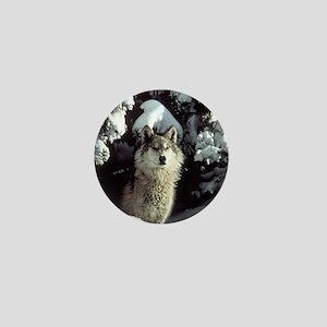 Winter Wolf Mini Button