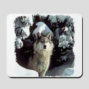 Winter Wolf Mousepad