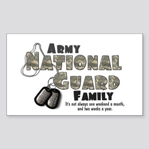 National Guard Family Rectangle Sticker