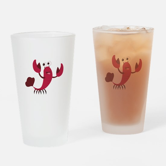 Cartoon Crab Drinking Glass
