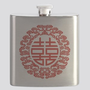 red double happiness  Flask