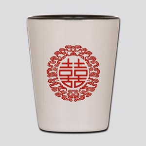 red double happiness  Shot Glass