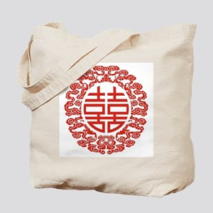 red double happiness  Tote Bag