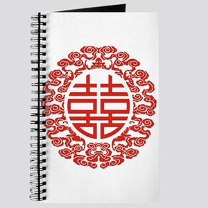 red double happiness Journal