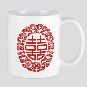 red double happiness Mugs