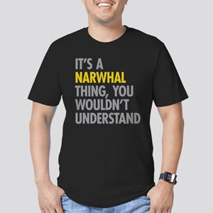 Its A Narwhal Thing Men's Fitted T-Shirt (dark)