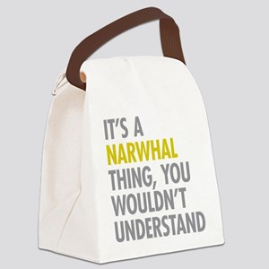 Its A Narwhal Thing Canvas Lunch Bag