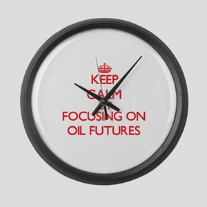 Keep Calm by focusing on Oil Futu Large Wall Clock
