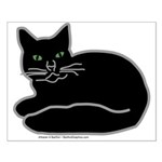 Black Kitty Small Poster