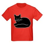 Black Kitty Kids Dark T-Shirt