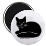 Black Kitty Magnet