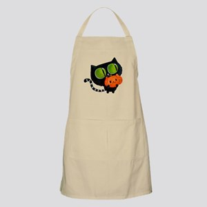 Cute Black Cat with pumpkin Apron