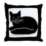 Black Kitty Throw Pillow