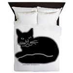 Black Kitty Queen Duvet