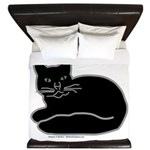 Black Kitty King Duvet
