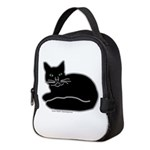 Black Kitty Neoprene Lunch Bag