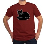 Black Kitty Men's Fitted T-Shirt (dark)