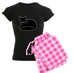 Black Kitty Women's Dark Pajamas