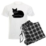 Black Kitty Men's Light Pajamas
