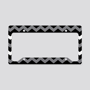 Black Gray And White Chevron License Plate Holder
