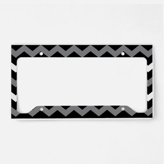 Black Gray And White Chevron License Plate Holder