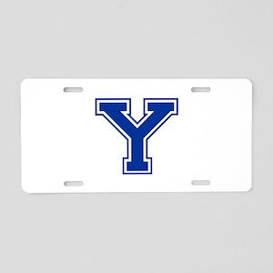Y-var blue2 Aluminum License Plate