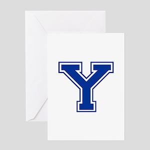 Y-var blue2 Greeting Cards