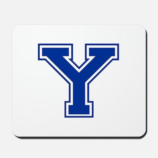 Y-var blue2 Mousepad