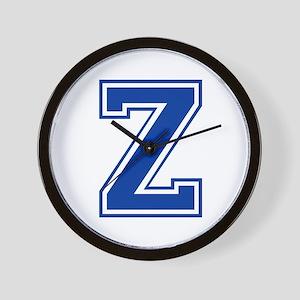 Z-var blue2 Wall Clock