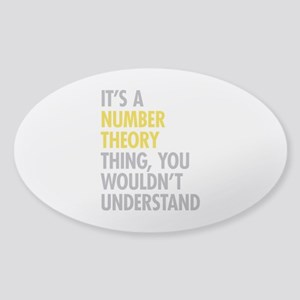 Number Theory Thing Sticker (Oval)