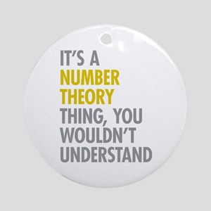 Number Theory Thing Ornament (Round)