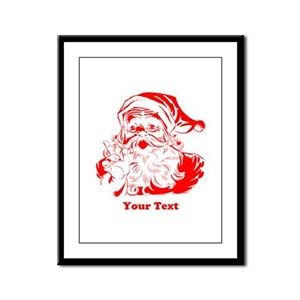 Christmas Santa Customized Framed Panel Print