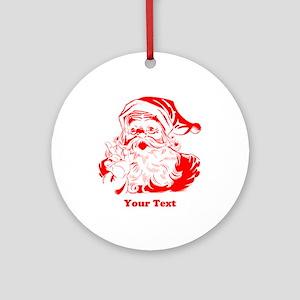 Christmas Santa Customized Round Ornament