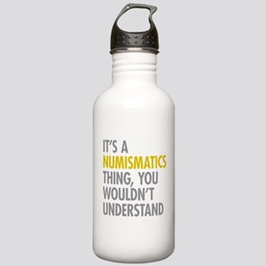 Its A Numismatics Thin Stainless Water Bottle 1.0L