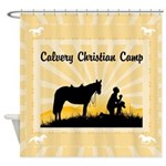 Christian Cowboy Shower Curtain