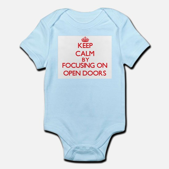 Keep Calm by focusing on Open Doors Body Suit