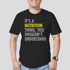 Its A Nutrition Thing Men's Fitted T-Shirt (dark)