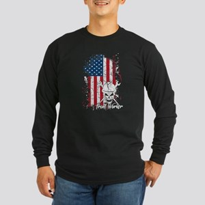 Iron Worker Flag Shirt Long Sleeve T-Shirt