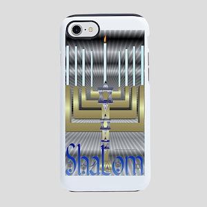 Shalom Menorah iPhone 7 Tough Case