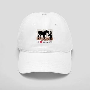 I Love Horses & Girl w/ Color Cap
