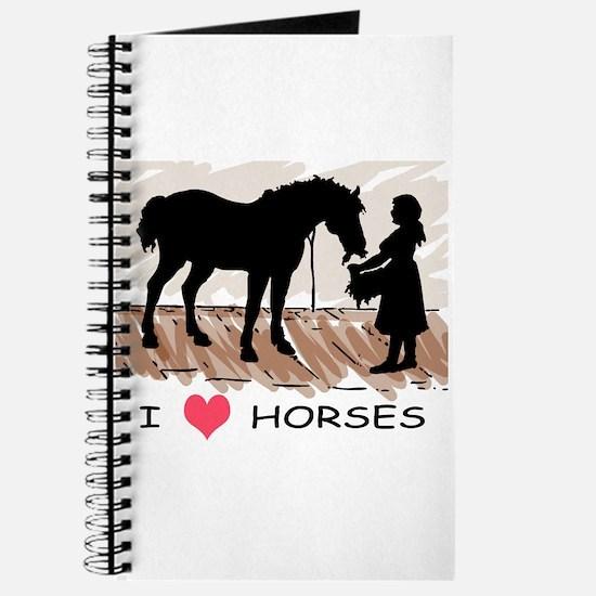 I Love Horses & Girl w/ Color Journal