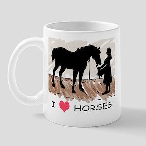 I Love Horses & Girl w/ Color Mug