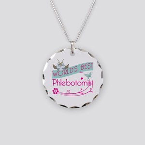 World's Best Phlebotomist Necklace Circle Charm