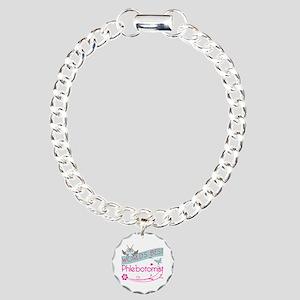 World's Best Phlebotomis Charm Bracelet, One Charm