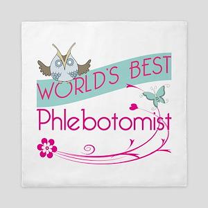 World's Best Phlebotomist Queen Duvet