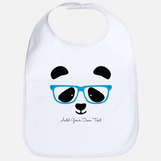 Cute Panda Blue Bib