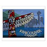 Vancouver Souvenir Art Print Small Poster Print