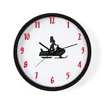 Snowmobile Theme Wall Clock